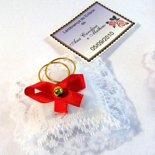almofadinhas lembrancinha casamento cor vermelho - 120 unid