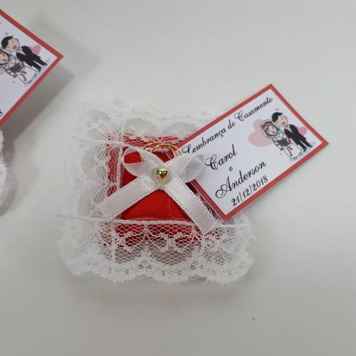 almofadinhas lembrancinhas casamento bodas - vermelho 100 un