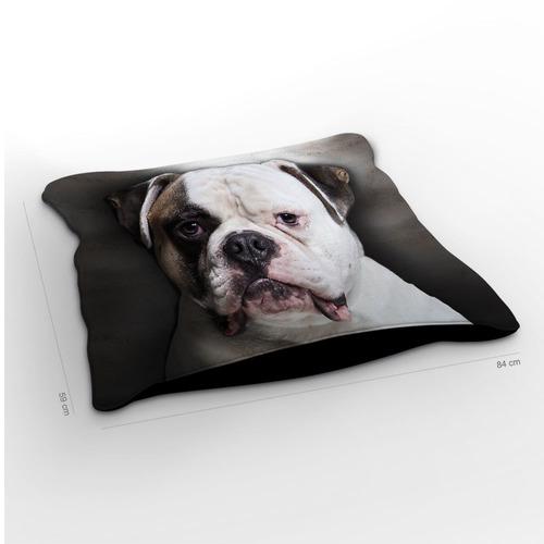 almofadão cachorro bulldog americano 85x60cm