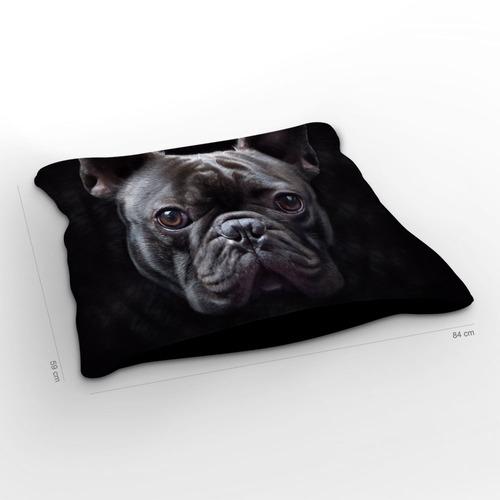 almofadão cachorro bulldog francês 85x60cm