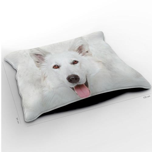 almofadão cachorro pastor suíço 120x84cm
