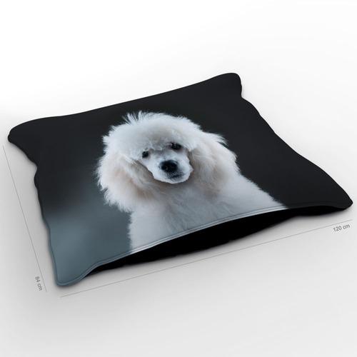 almofadão cachorro poodle black black 120x84cm