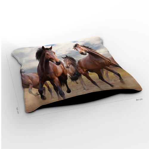almofadão cavalo horizon 85x60cm