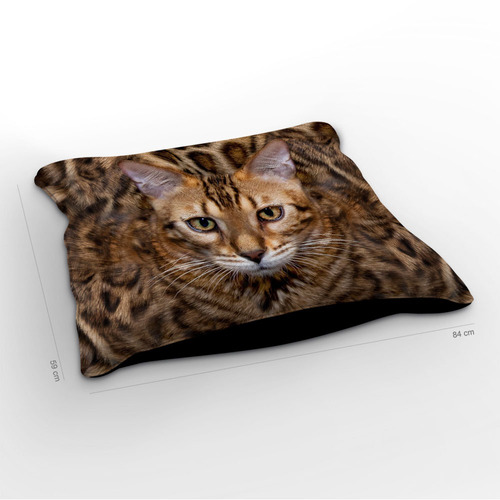 almofadão gato bengal 85x60cm