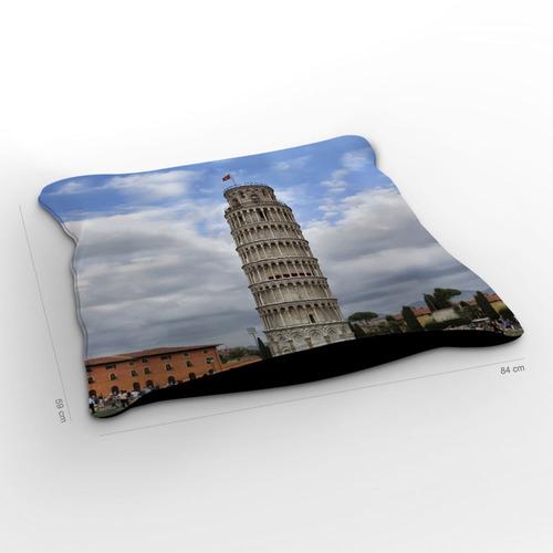 almofadão itália torre de pisa 85x60cm