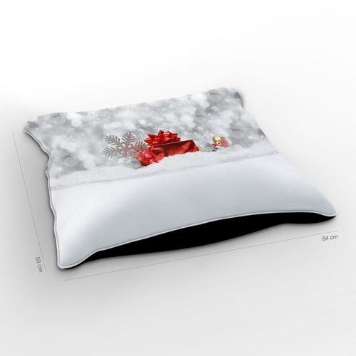 almofadão natal snow 85x60cm