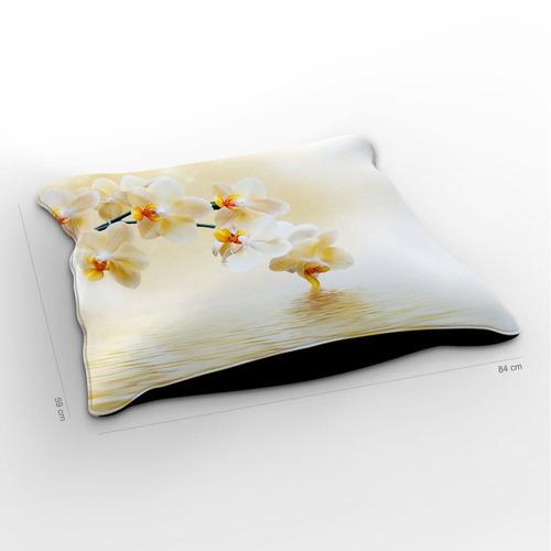 almofadão orquídea white mirror 85x60cm