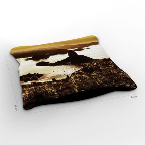 almofadão rio de janeiro pão de açúcar 85x60cm