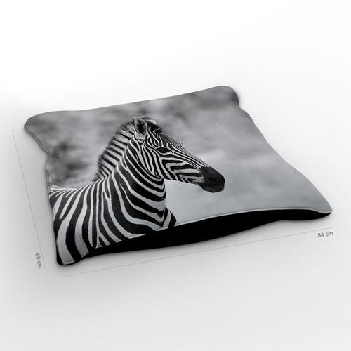 almofadão selvagem zebra 85x60cm