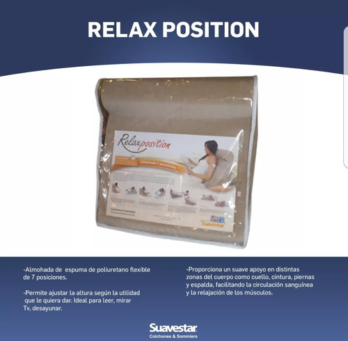 almohada 7 posiciones relax position suavestar