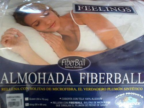 almohada bondex bolitas de microfibra - antialergica queen s