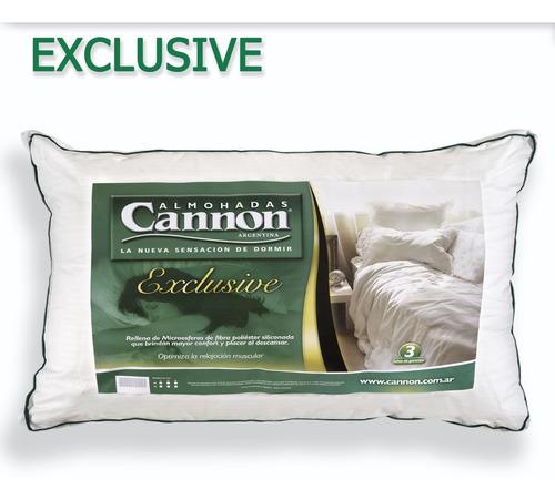 almohada cannon exclusive x 2 fibra siliconada
