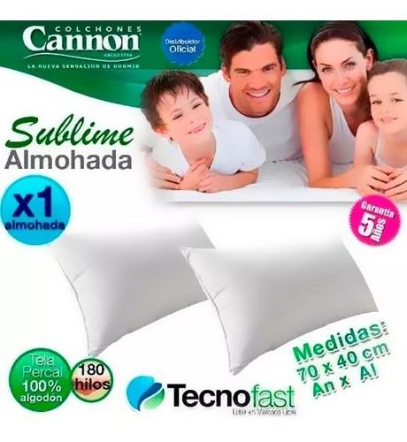 almohada cannon sublime espuma hipersoft oferta 70 x 40