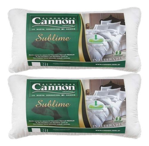 almohada cannon sublime fibra siliconada en combo cuotas
