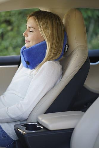 almohada cervical espuma de memoria terapéutica azul y gris