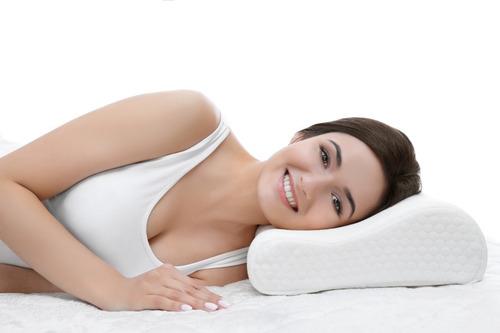 almohada cervical viajera  sleep line art home textil 10473