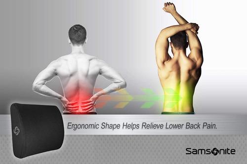 almohada cojin apoyo lumbar alivio dolor espalda samsonite