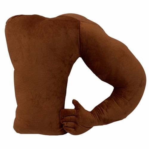 almohada cojin en forma de brazo musculoso cafe h8103