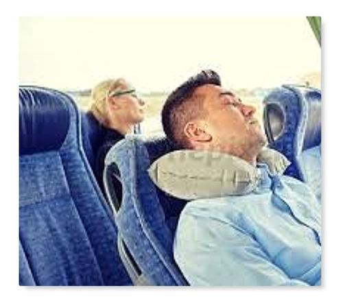 almohada cojin inflable cuello relajante viaje marca health