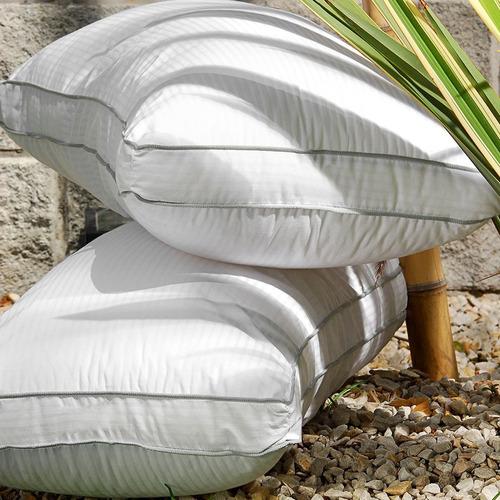 almohada con fuelle essencia doble vivo 50x70 cms combo x2