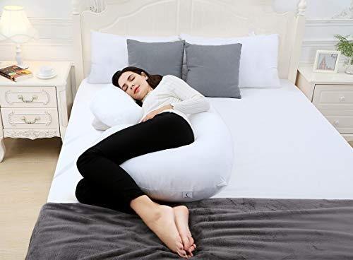 almohada de embarazo en forma de luna marina en forma de c,