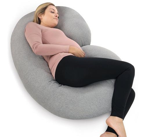 almohada de embarazo pharmedoc con cubierta de jersey, !