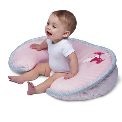almohada de lactancia boppy de luxe y posicionador, jiraf