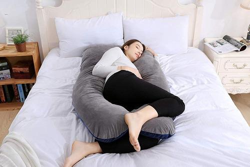 almohada de maternidad para el embarazo cuerpo completo