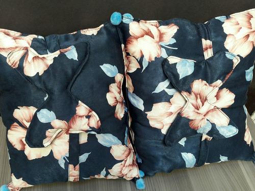 almohada de satin + antifaz de mariposa