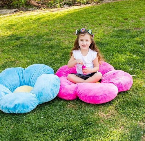 almohada decorativa para niña en forma de rosa verde grande