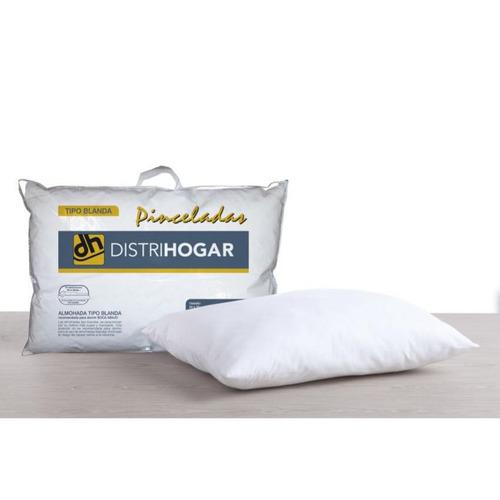 almohada distrihogar pinceladas blanda 50 x 70 blanco