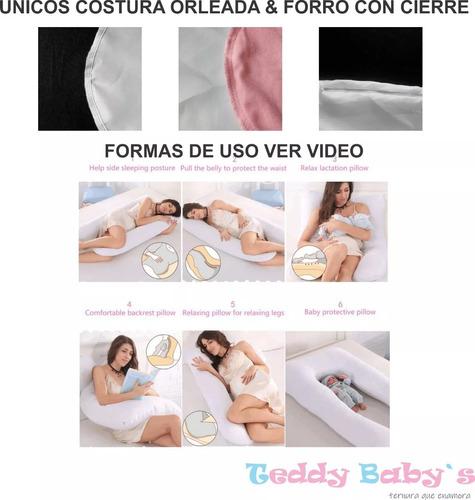 almohada embarazada y lactancia bebe envio gratis (150x75cms