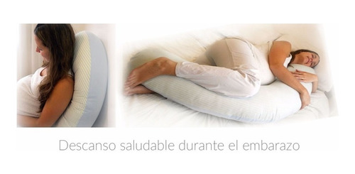 almohada embarazo toral 6en1 puff bebé cojin materna gris