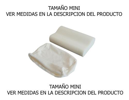 almohada ergonómica mini memory foam velour con cierre