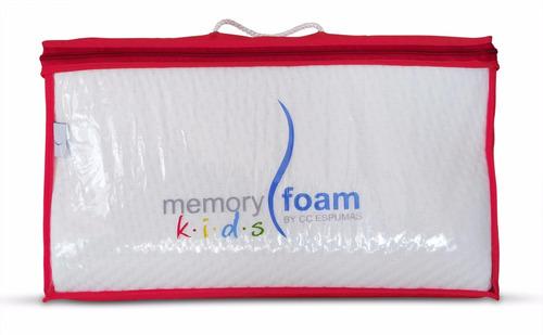 almohada infantil curva kids memory foam
