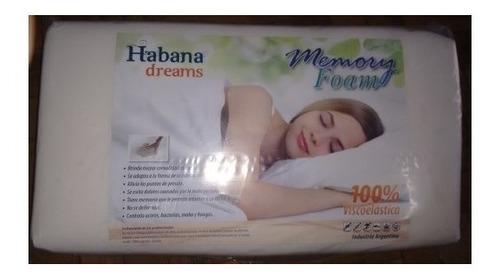 almohada inteligente memory foam viscoelastica habana dreams