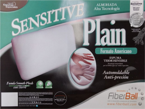 almohada inteligente sensitive plain fiberball 63x35x15