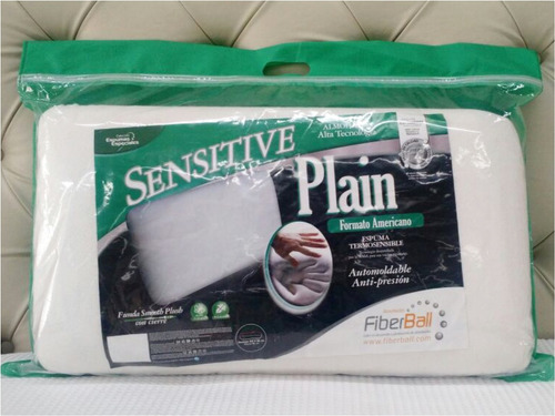 almohada inteligente sensitive plain fiberball 63x35x15