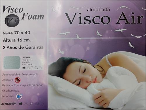 almohada inteligente visco air vf - 70x40x16