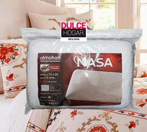 almohada inteligente viscoelastica nasa alto 14 cm lavable
