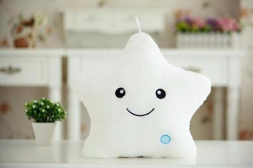 almohada juguetes estrella  luminosa luz led para niños