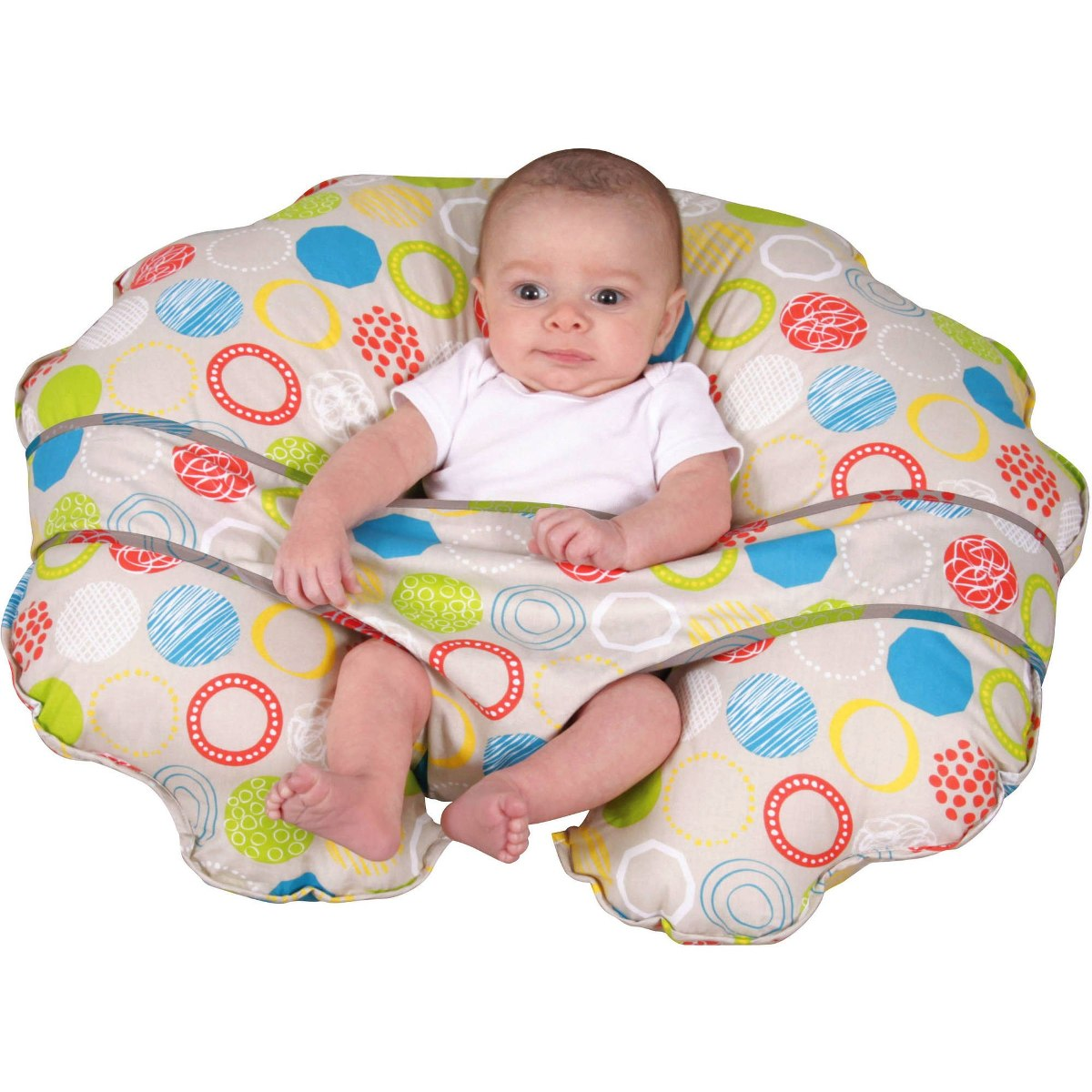 Almohada Leachco Cuddle U Nursing Para Bebes Color Neutro
