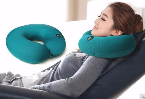 almohada masajeador de cuello cervical vibrador stress