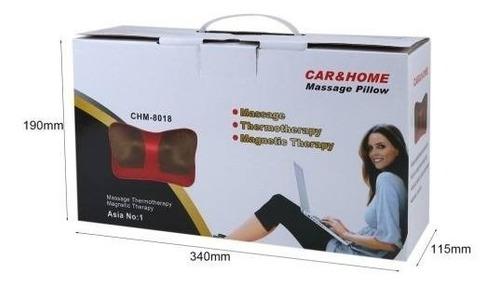 almohada masajeadora terapeutica para carro o casa