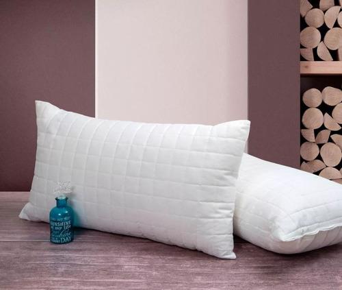 almohada matelasse vellon siliconado 65x40 hipoalergenica