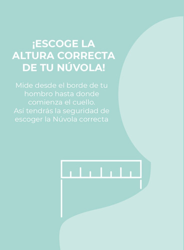 almohada memory nuvola cervical medium  set x 2