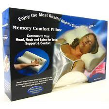 almohada ortopedica memory pillow viscoelastica cervical tv