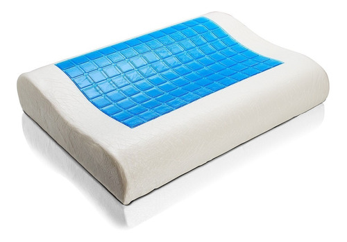 almohada ortopedica viscoelastica con gel + funda original