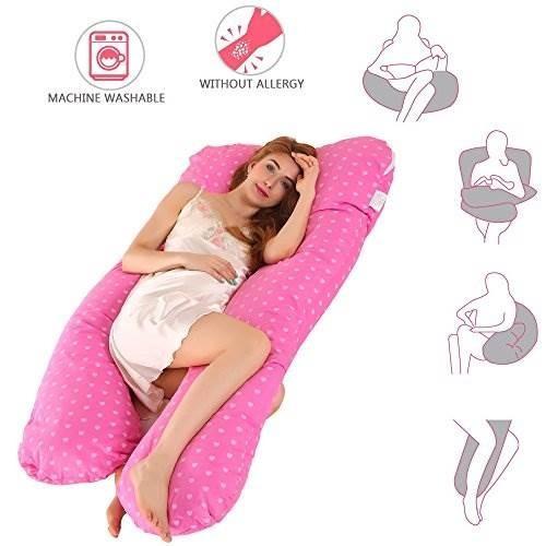 almohada para el embarazo, en forma de u embarazada almohada