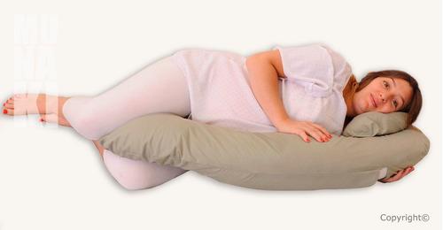 almohada para embarazadas con soporte para panza y espalda